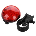 Red 3-Mode LED Bike Safety Warning Tail Light - Red + Black (2*CR2032)