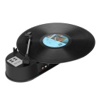 Mini USB Turntable LP Converter w/ L/R RCA Stereo Outputs, Micro SD Card Slot - Black
