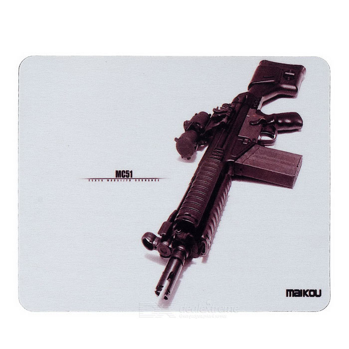 MAIKOU 180 * 220 milímetros MC51 Gun Pattern Mouse Pad Mat - Brown + Preto