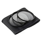 +1 / +2 / +4 Macro Close Up Filter Set for 67mm Camera Lenses - Black
