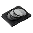 1/2/4 Macro Close Up Filter Set para lentes de 77 milímetros Camera - Black