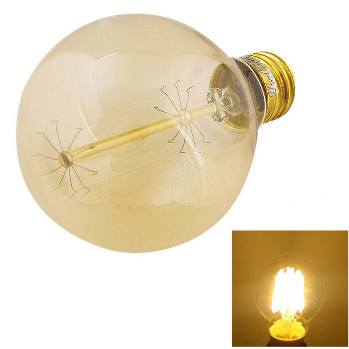 YouOKLight E27 40W Warm White Tungsten Edison Filament Bulb - SilverE27<br>Form  ColorTransparent + Silver + Multi-ColoredColor BINWarm WhiteModelYK0841MaterialAL + glassQuantity1 DX.PCM.Model.AttributeModel.UnitPowerOthers,40WRated VoltageAC 110 DX.PCM.Model.AttributeModel.UnitConnector TypeE27Chip BrandOthers,-Emitter TypeOthers,FilamentTotal Emitters1Theoretical Lumens400 DX.PCM.Model.AttributeModel.UnitActual Lumens300 DX.PCM.Model.AttributeModel.UnitColor Temperature3000KDimmableNoBeam Angle360 DX.PCM.Model.AttributeModel.UnitCertificationCE ROHSPacking List1 x Lamp<br>
