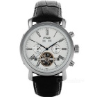 MCE 01-0060148 Analog Tourbillon Mechanical Watch - Black + White