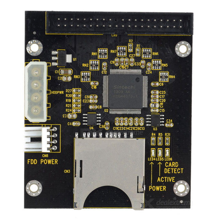 "3.5"" IDE 40Pin Male Adapter Card - Black"