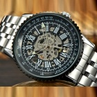 MCE 01-0060340 Steel Band Analog Mechanical Watch - Black + Silver
