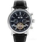 MCE 01-0060148 Analog Tourbillon Mechanical Watch - Black