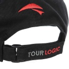 TOURLOGIC Golf Cap Velcro Tape - Musta