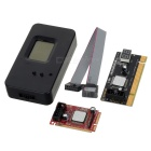 3-in-1 MINI PCI-E Laptop Fault Analysis Diagnostic Card - Black + Red