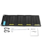 Painel de carregamento 8W Solar Power Bank Built-in Tensão Regulartor - Black
