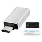 USB 3.1 Type-C to USB 3.0 OTG Adapter for MacBook - Silver