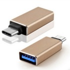 USB3.1 Type-C к USB 3.0 OTG адаптер для MacBook - Золотой