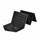15W Folding Solar Power Bank Built-in Voltage Regulartor - Black