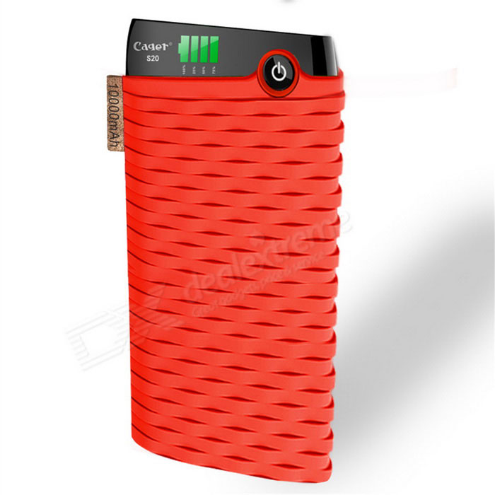 Cager S20 10000mAh Lithium Polymer Battery Power Bank para o iPhone - Red