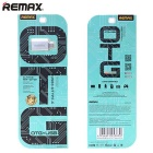 REMAX RE-OTG1 Type-C to USB Adapter w/ OTG Function - Champagne Gold