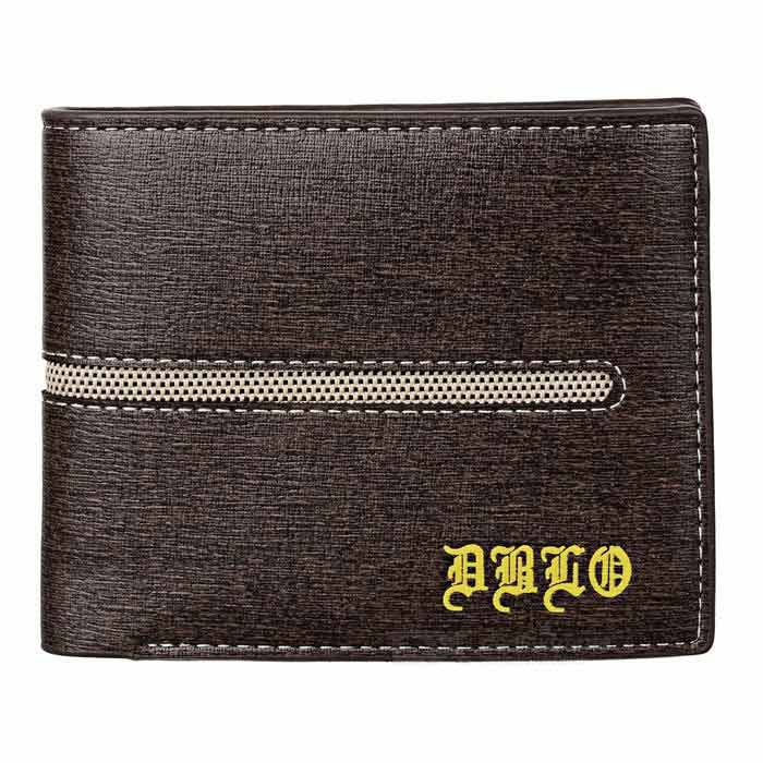 DBLO Men's Short PU Leather Wallet Purse w/ Card Slots - Coffee