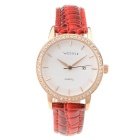 WESTCHI W3109LDRERD-4T0 Women's Quartz Watch - White + Golden + Red