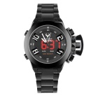 BESNEW BN-1532 Men's LED Analog Digital Sports Watch - Black + White