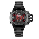 BESNEW BN-1532 Men's LED Analog Digital Waterproof Watch - Black + Red