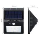 0.75W 16 LED Solar White Light Uteplats Lampa med Motion Sensor - Svart