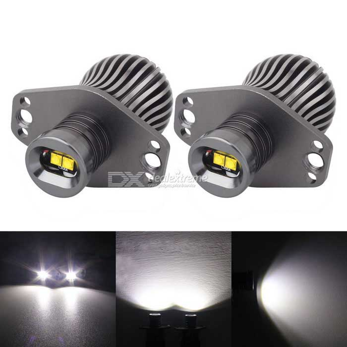 MZ E90 2XT-E LED 10W 600lm Angel Eyes White Foglight DRL - Silver Grey
