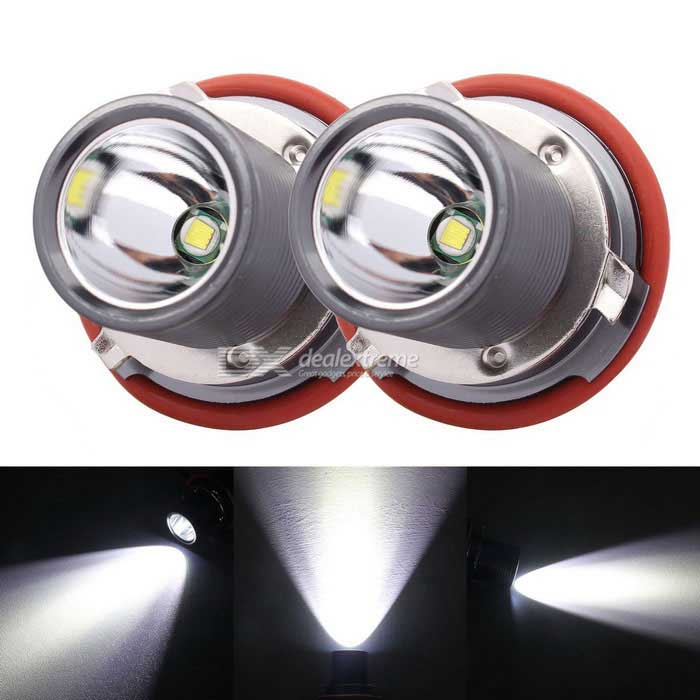 MZ E39 XM-L LED 10W 1200lm Angel Eyes White Foglight DRL - серебристо-серый