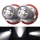 MZ E39 XM-L LED 10W 1200lm Angel Eyes White Foglight DRL - Silver Grey