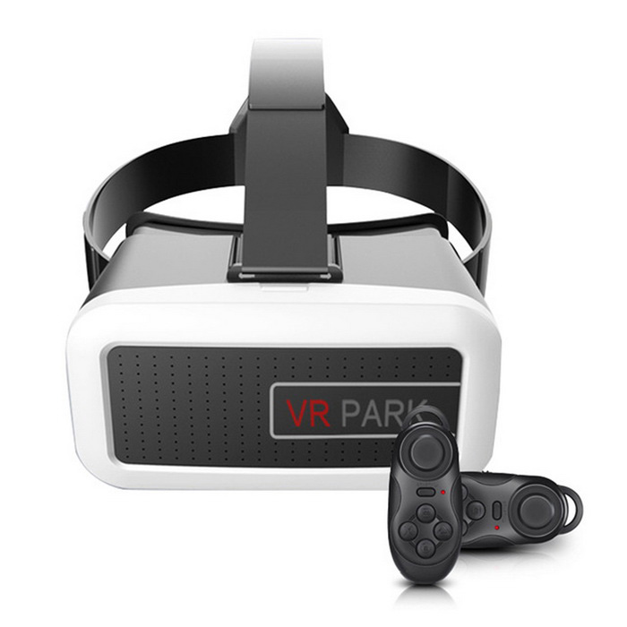 VR PARK V2+ 3D Glasses + Bluetooth Wireless Controller - White