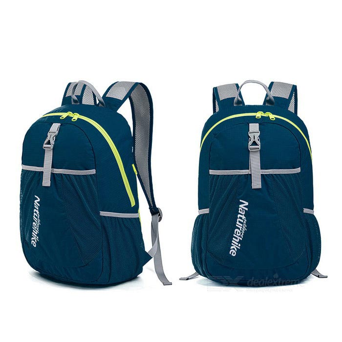 NatureHike NH15A119-B 22L Hiking Daypack Folding Backpack - Dark Blue