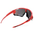 Cycling UV400 Protection Red REVO Lens Sunglasses Goggles - Red