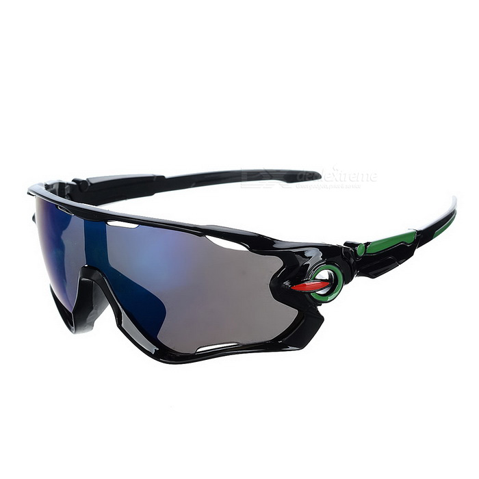 Cycling UV400 Protection Blue REVO Lens Sunglasses Goggles - BlackSport Sunglasses<br>Frame ColorBlackLens ColorBlue REVOQuantity1 DX.PCM.Model.AttributeModel.UnitShade Of ColorBlackFrame MaterialPCLens MaterialPCProtectionUV400GenderUnisexSuitable forAdultsFrame Height5 DX.PCM.Model.AttributeModel.UnitLens Width6.8 DX.PCM.Model.AttributeModel.UnitBridge Width1.5 DX.PCM.Model.AttributeModel.UnitOverall Width of Frame14.5 DX.PCM.Model.AttributeModel.UnitPacking List1 x Sunglasses 1 x Case<br>