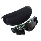 Cycling UV400 Protection Blue REVO Lens Sunglasses Goggles - Black