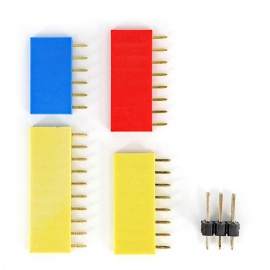Gold-Plated Female Pin Header Kit for Arduino Board - Multi-Colored