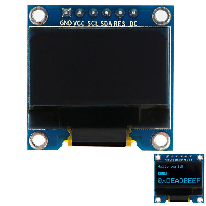 "SSD1306 0.96"" 128 x 64 Blue OLED Screen Display Module - синий + черный"