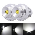 MZ E39 4 XT-E LED 32W 1400lm Angel Eyes White Foglight DRL - Silver