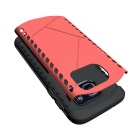 Shockproof TPU Back Case for Samsung Galaxy S7 - Black + Red