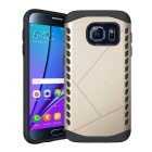 Shockproof TPU Back Case for Samsung Galaxy S7 - Black + Golden