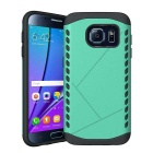Shockproof TPU Back Case for Samsung Galaxy S7 - Green + Black