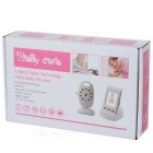 "2.0"" LCD Wireless Digital Baby Monitor w/ Night Vision - White"