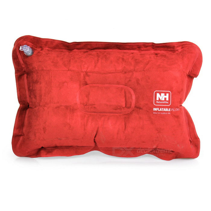 NatureHike exterior Viajando inflável Suede Pillow - Orange