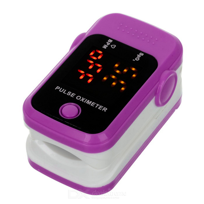 "1.1"" Pulse Oximeter w/ Heart Rate Monitor - Deep Pink + White (2*AAA)"