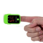 "1.1"" Pulse Oximeter w/ Heart Rate Monitor - Green + White (2*AAA)"