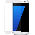 Glass Screen Guard for Samsung Galaxy S7 Edge - White + Transparent