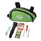 JAKEMY JM-PJ4001 Bike Repairing Tools Kit - Green + Silver