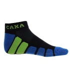 CAXA Men's Mid-calf Length Sports Socks - Black Green + Blue (Pair)