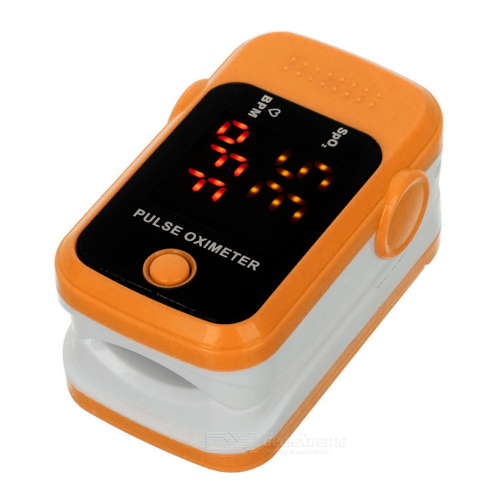 "1.1"" Pulse Oximeter w/ Heart Rate Monitor - Orange + White (2*AAA)"