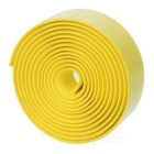 Anti-Slip Bike Handlebar Tape w/ Bar Plugs - Yellow (2PCS)