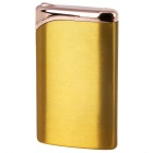 Fashion Green Flame Business Refilled Butane Gas Lighter - Golden