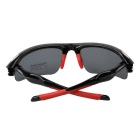 Outdoor Sports Cycling Polarized Lens Sunglasses Goggles - Black + Red