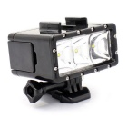 Camera 30M Waterproof 3-LED Night Diving Fill Light for Gopro - Black