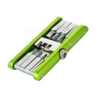 JAKEMY JM-PJ1001 11-in-1 Folding Bike Repair Tool - Green + Silver